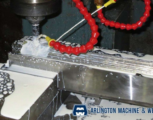 CNC milling of toggle seat by Arlington Machine & Welding Inc.