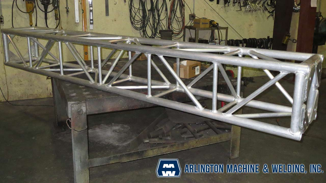 Concert staging fabricated by Arlington Machine & Welding Inc.
