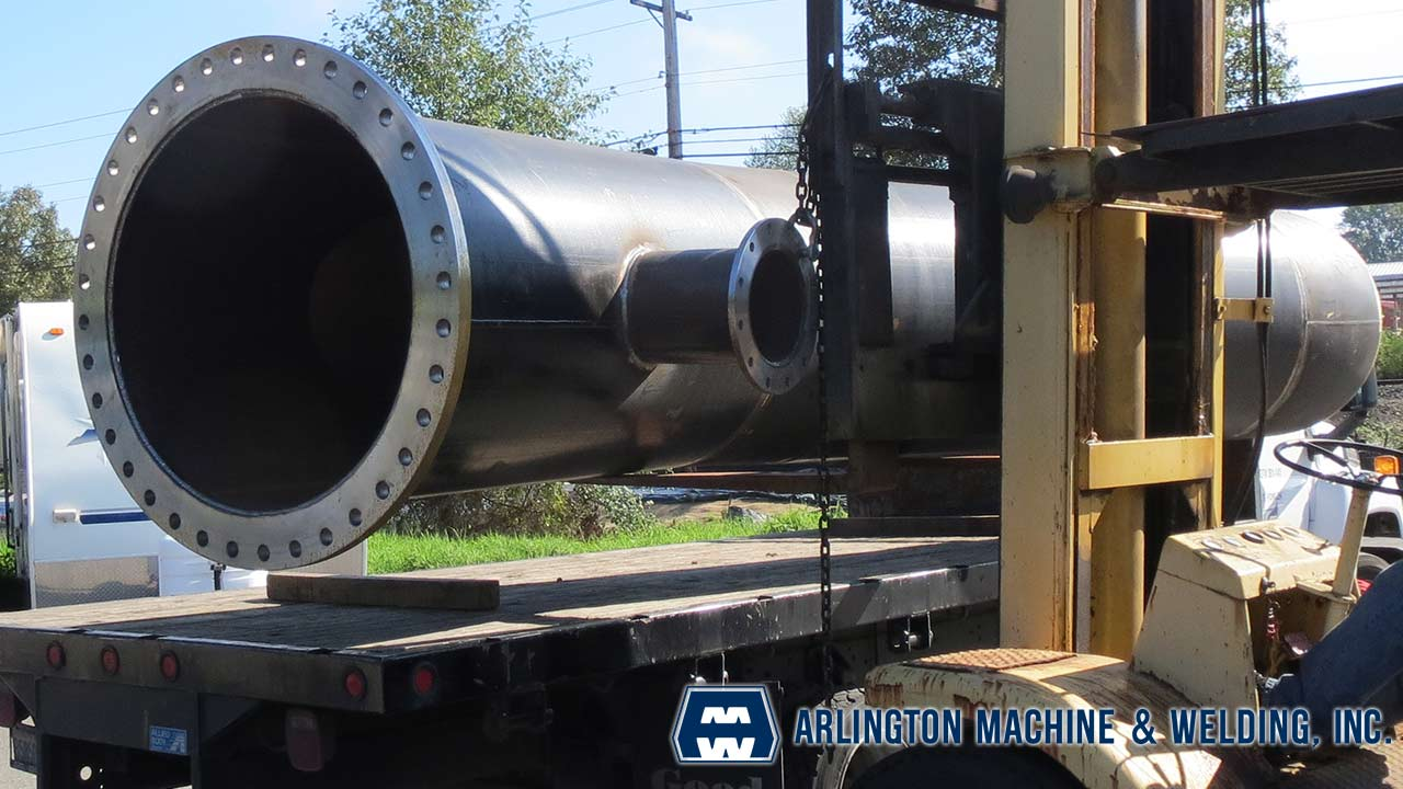 Drainage pipe fabricated by Arlington Machine & Welding Inc.