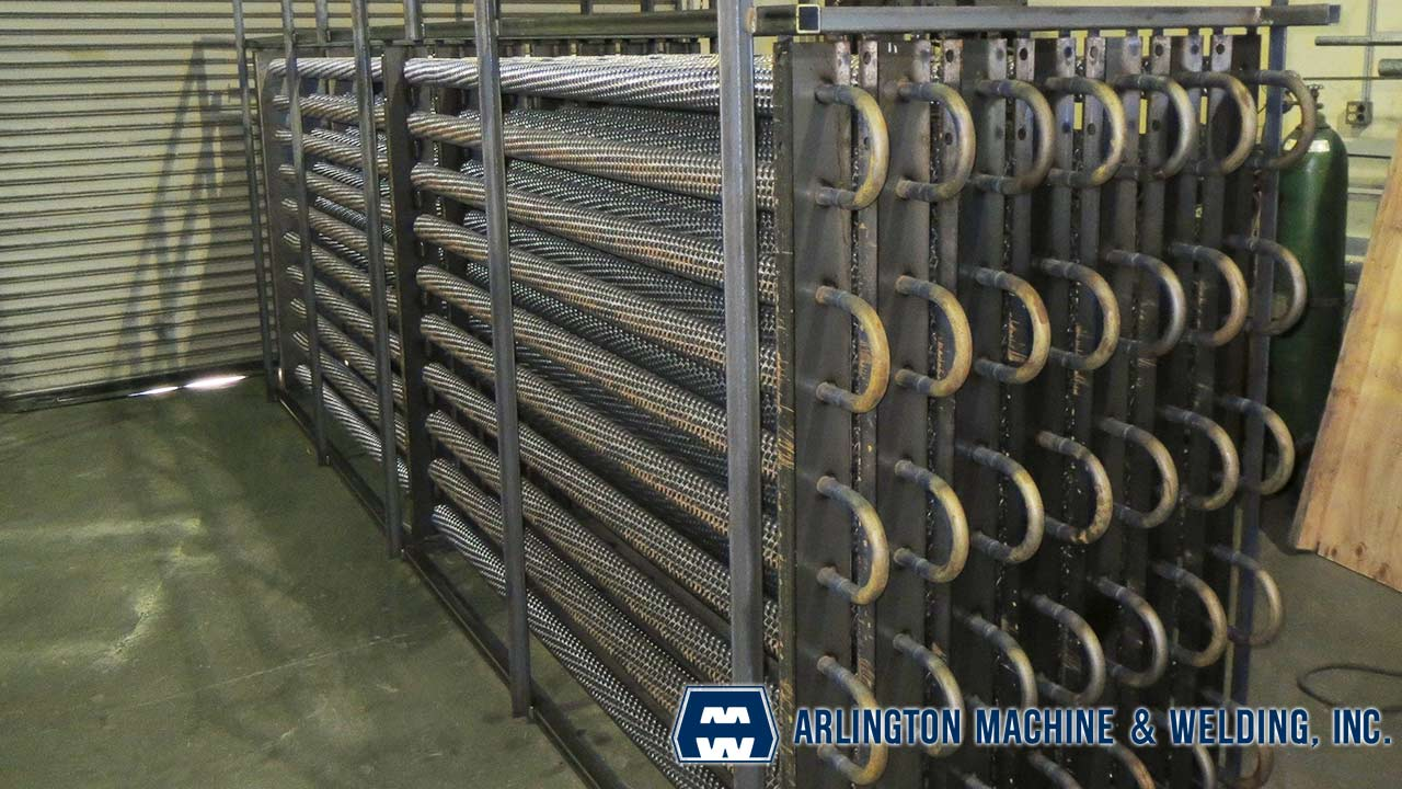 Fincoil units for marine refrigeration fabricated by Arlington Machine & Welding Inc.