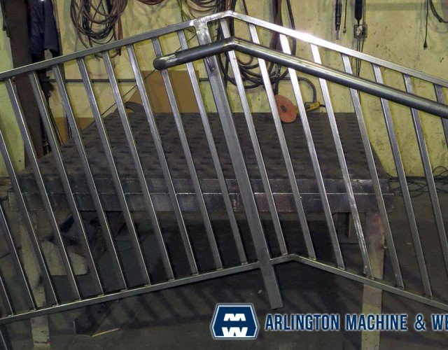 Rail for contractor fabricated by Arlington Machine & Welding Inc.