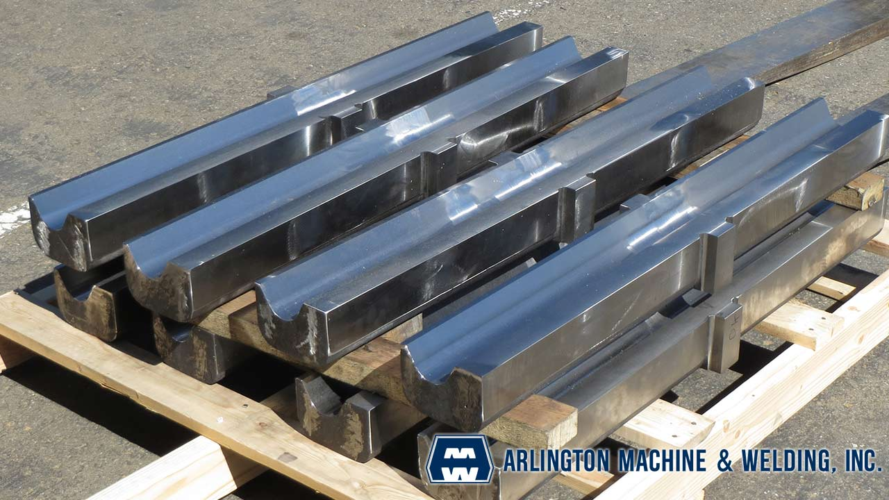 Rock crusher toggle seats machined by Arlington Machine & Welding Inc.