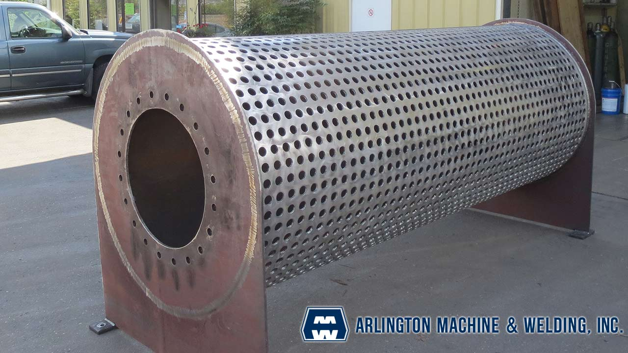 Water diffusion pipe fabricated by Arlington Machine & Welding Inc.